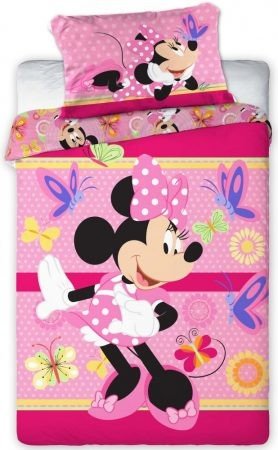 Gyerek ovis ágyneműhuzat Disney Minnie 100×135cm 5c8a22bc42