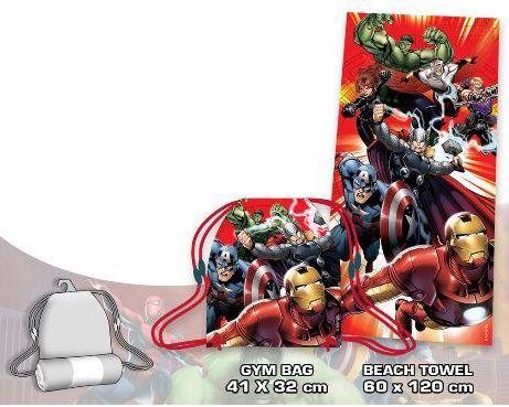 Avengers Törölköző + Tornazsák szett - DAY-DREAM WEBÁRUHÁZ 05da6a4153