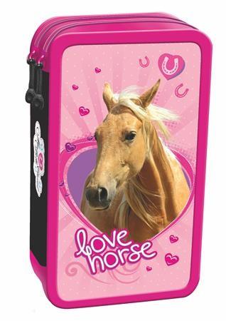 Rózsaszín lovas emeletes töltött tolltartó - DAY-DREAM WEBÁRUHÁZ d5b4fdd1f0