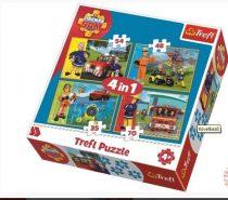 Trefl 4 az 1-ben puzzle (35,48,54,70 db-os) - Sam, a tűzoltó