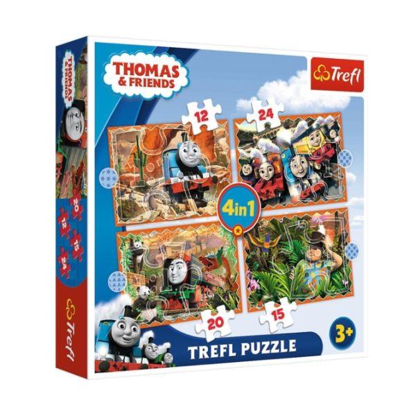 Thomas és barátai 4 az 1-ben puzzle 6c084467fa