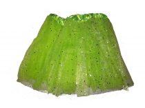 Zöld csillogós tüll szoknya-Tütü