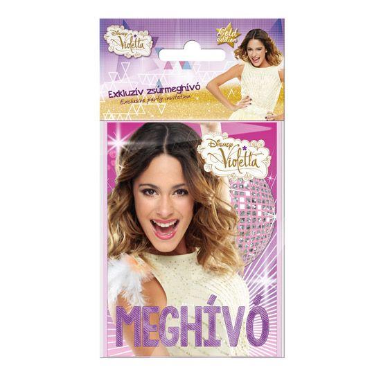 Violetta parti meghívó - borítékos - 5 darabos - DAY-DREAM WEBÁRUHÁZ 3e5e9adc03