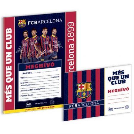Barcelona partimeghívó borítékkal