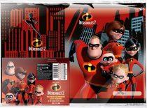 Füzetborító képes A/5 10 db/cs, The Incredibles 2, Family