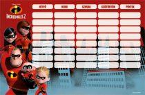 Órarend nagy, The Incredibles 2, Family