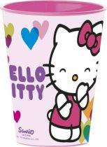 Hello kitty műanyag pohár