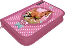 Lovas rózsaszín tolltartó