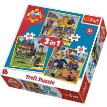 Sam a tűzoltó 3in1 puzzle – Sam, a tűzoltó és csapata akcióban
