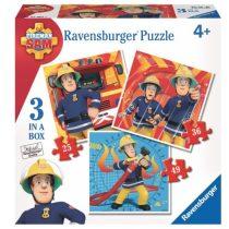 Ravensburger 3 az 1-ben puzzle (25, 36, 49 db-os) - Sam, a tűzoltó