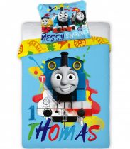Gyerek ágyneműhuzat Thomas and Friends 100×135cm, 40×60 cm ovis méret